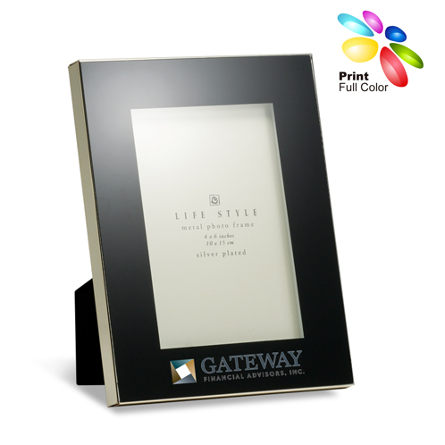 PF-5204BK - Black Glass Photo Frame