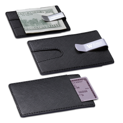 TR-340BK - Credit Card Holder with Money Clip