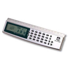 Digital World Time Desk Clock Ruler