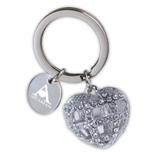Crystal Heart Key Holder