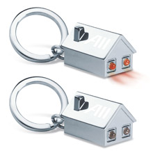 House Shape Key Holder with LED Lights