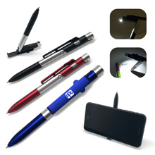 3-in-1 Ballpoint Phone Stand Pen & Light