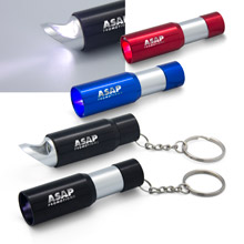 LED Flashlight Key Holder & Bottle Opener